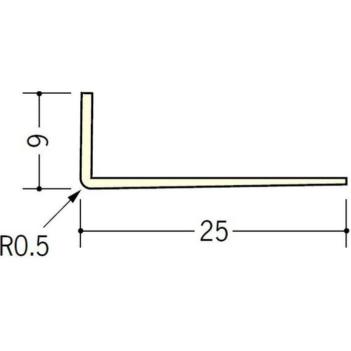 ペンキ・クロス下地材 ドア廻り ビニール L型コーナー9×25 ミルキー 2.5m  01039-1
