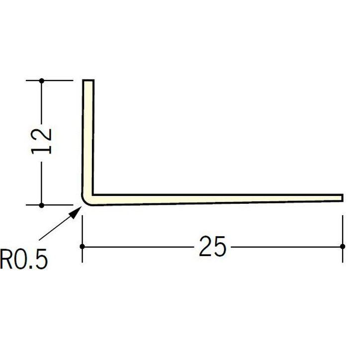 ペンキ・クロス下地材 ドア廻り ビニール L型コーナー12×25 ミルキー 2.5m  01040-1