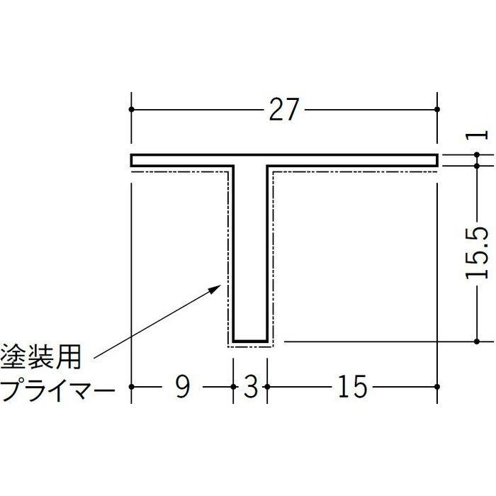 ペンキ用Tバー TP-15 ホワイト 1.82m 34230