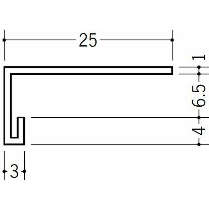コ型見切縁 天井廻り ビニール 見切 LP-6.5 ホワイト 2m  36201