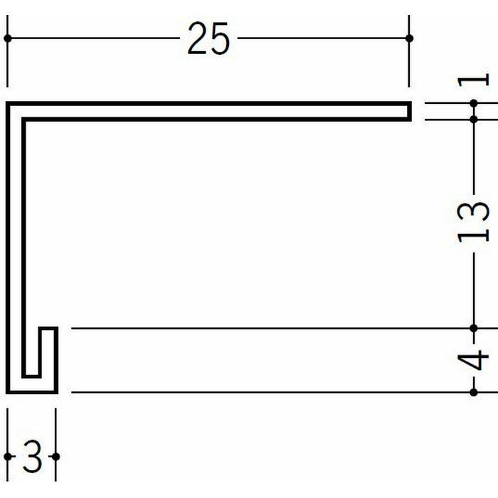 コ型見切縁 天井廻り ビニール 見切 LP-13 ホワイト 2m  36204