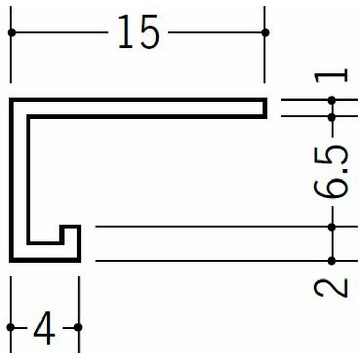 コ型見切縁 天井廻り ビニール 見切 PSD-6 ホワイト 2.3m  33135-2