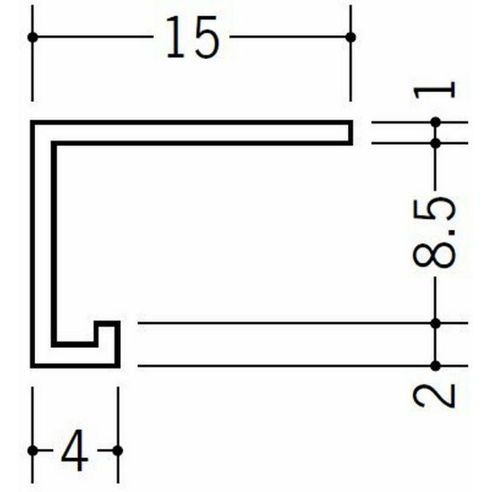 コ型見切縁 天井廻り ビニール 見切 PSD-8 ホワイト 2.3m  34238-2