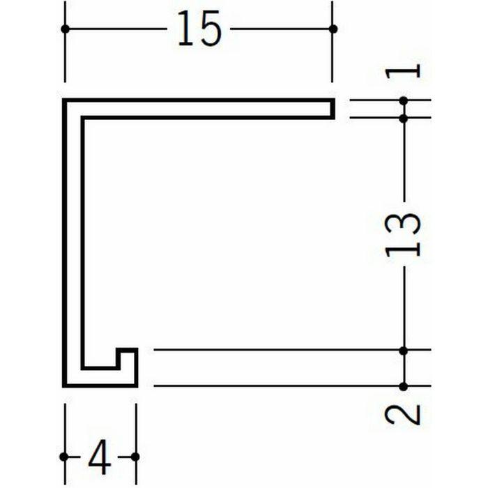 コ型見切縁 天井廻り ビニール 見切 PSD-12 ホワイト 2.1m  33137-1