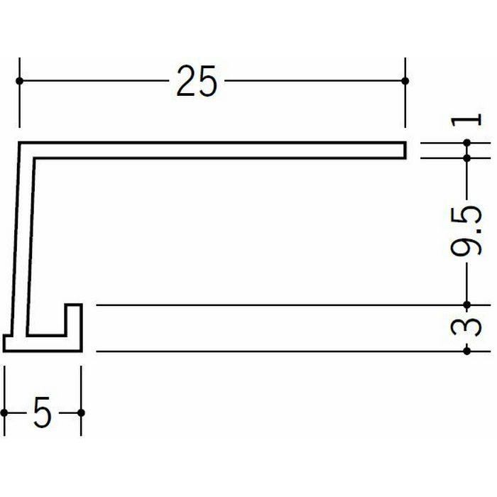 コ型見切縁 ビニール 見切 FC-岩綿9 ホワイト 1.82m  34232