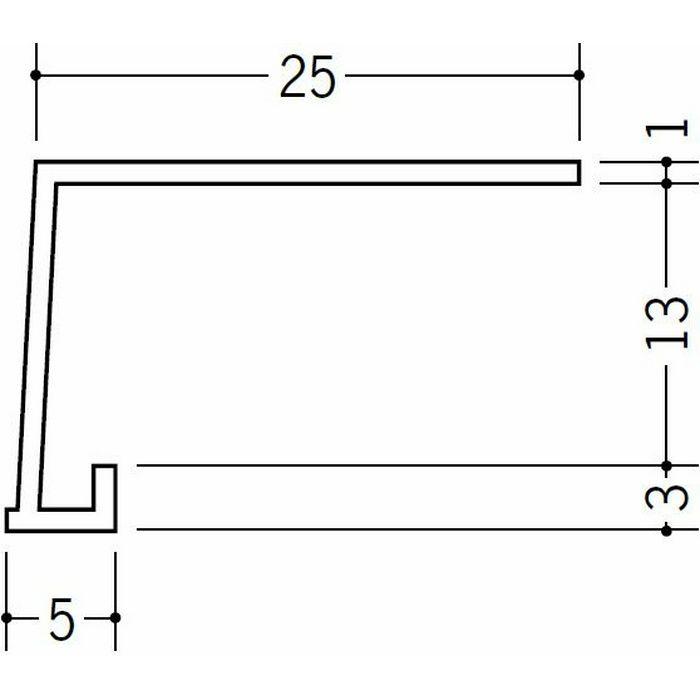 コ型見切縁 ビニール 見切 FC-12S ホワイト 1.82m  33031