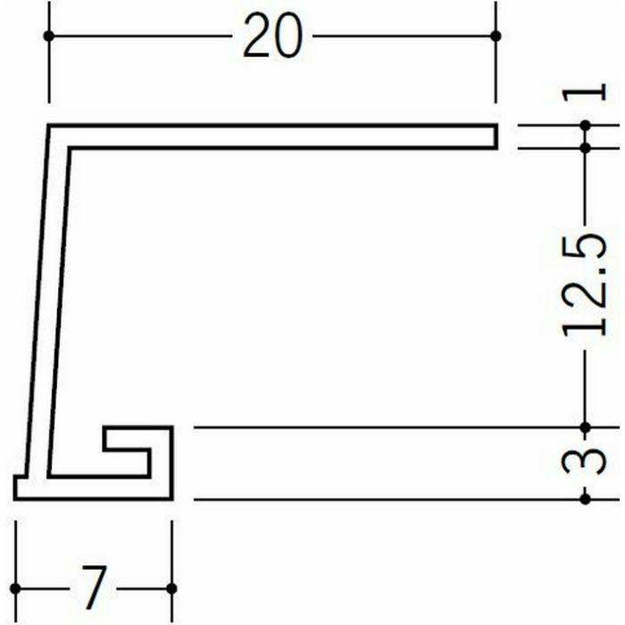 コ型見切縁 ビニール 見切 EV-12.5(岩綿板用) ホワイト 1.82m  34237