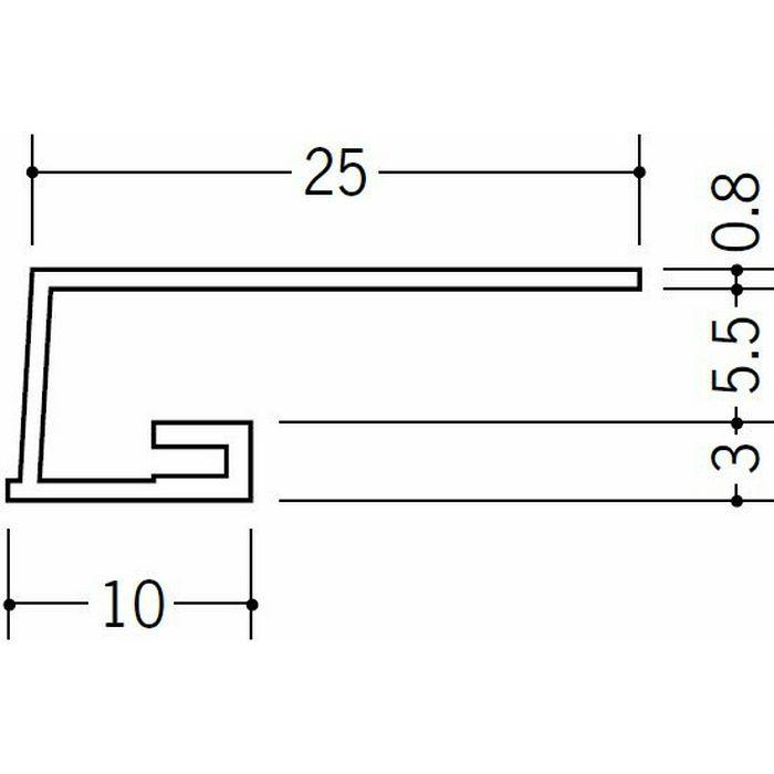コ型見切縁 ビニール 見切 A3-5.5 ホワイト 1.82m  33066