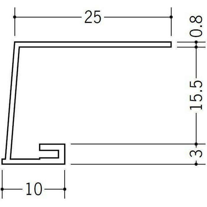 コ型見切縁 ビニール 見切 A3-15.5 ホワイト 1.82m  33211