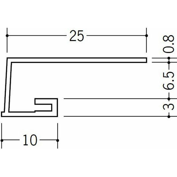 コ型見切縁 ビニール A3-6.5出隅35R 1/4円 ホワイト   33067035