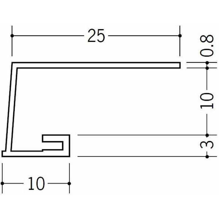コ型見切縁 ビニール A3-10出隅15R 1/4円 ホワイト   33068015