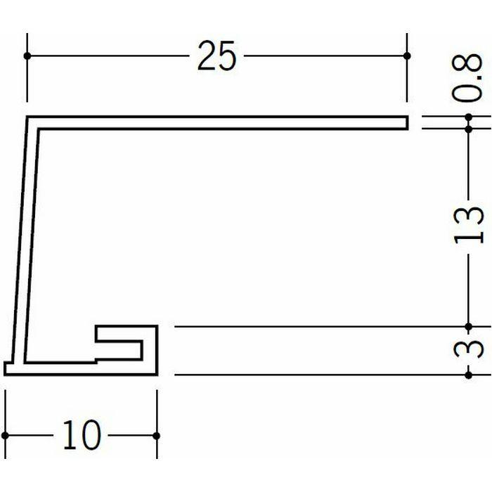 コ型見切縁 ビニール A3-13出隅25R 1/4円 ホワイト   33069025