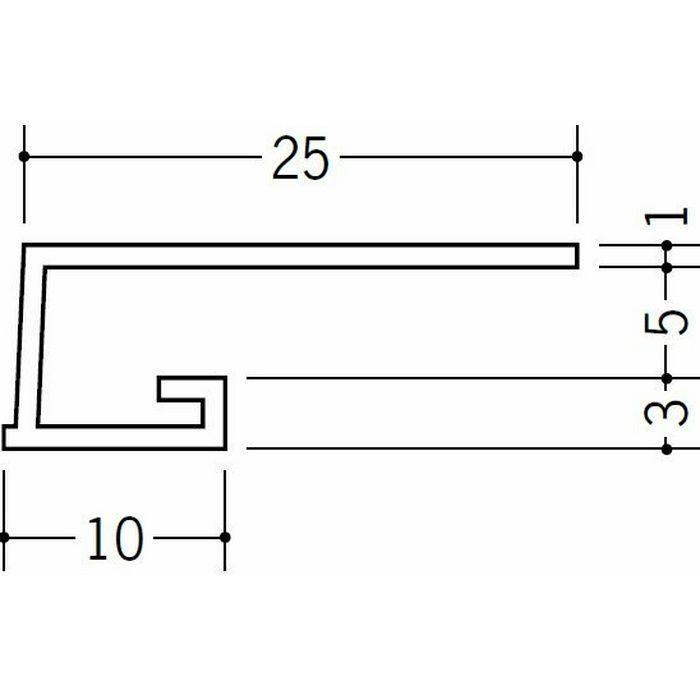 コ型見切縁 ビニール 見切 A1-5N ホワイト 1.82m  33041