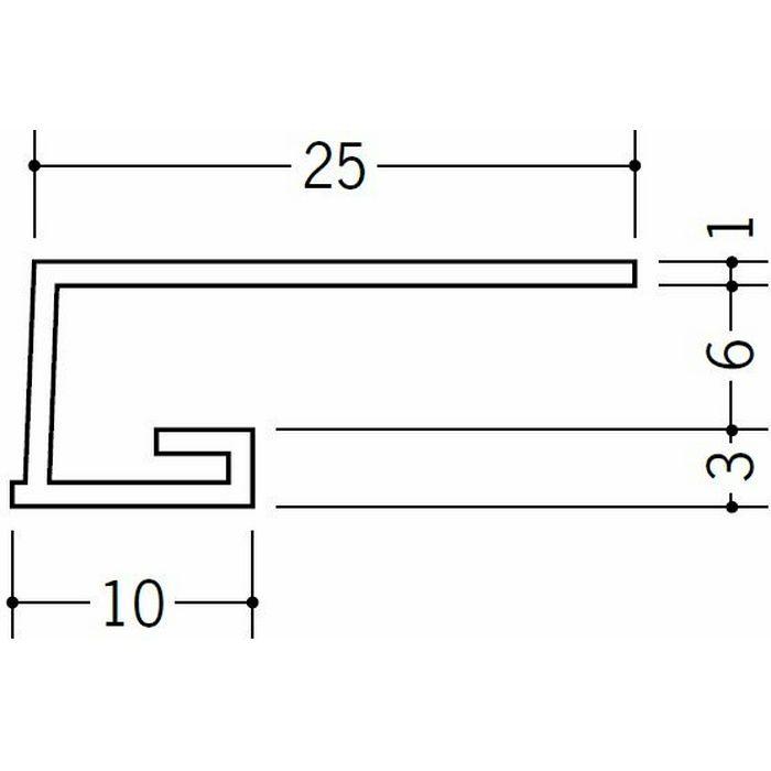 コ型見切縁 ビニール 見切 A1-6N ホワイト 1.82m  33042