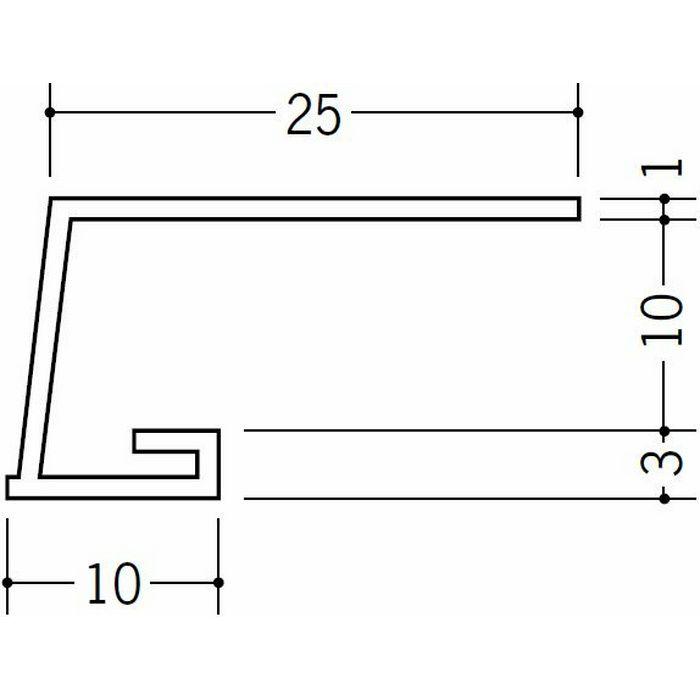 コ型見切縁 ビニール 見切 A1-10N ホワイト 1.82m  33044