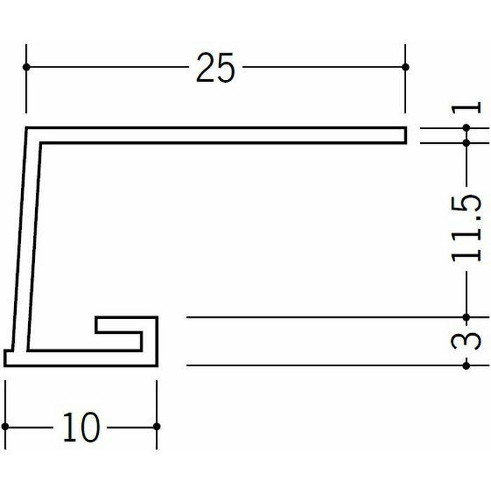 コ型見切縁 ビニール 見切 A1-11.5N ホワイト 1.82m  33038