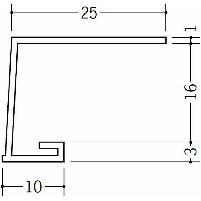 コ型見切縁 ビニール 見切 A1-16N ホワイト 1.82m  33046