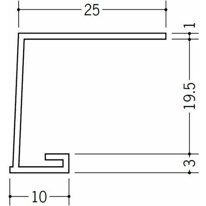 コ型見切縁 ビニール 見切 A1-20N ホワイト 1.82m  33049