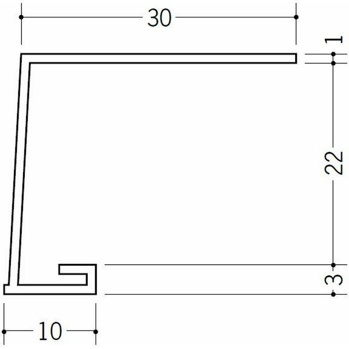 コ型見切縁 ビニール 見切 A1-22N ホワイト 1.82m  33047