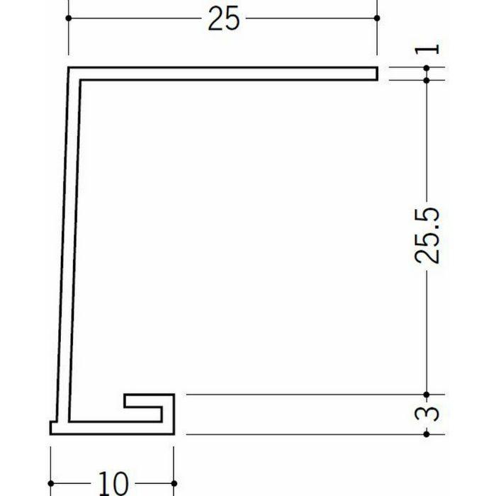 コ型見切縁 ビニール 見切 A1-26N ホワイト 1.82m  33050