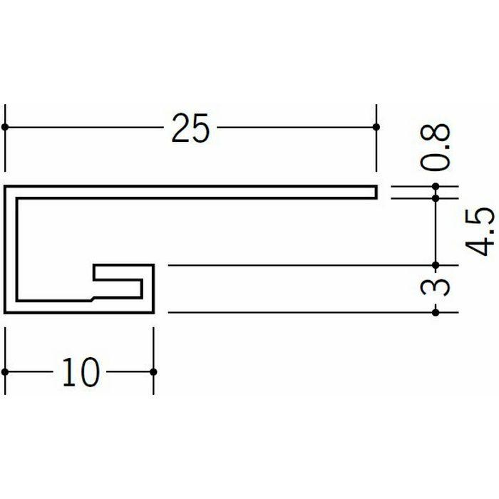 コ型見切縁 ビニール 見切 AG-4.5S ホワイト 2m  22008-1