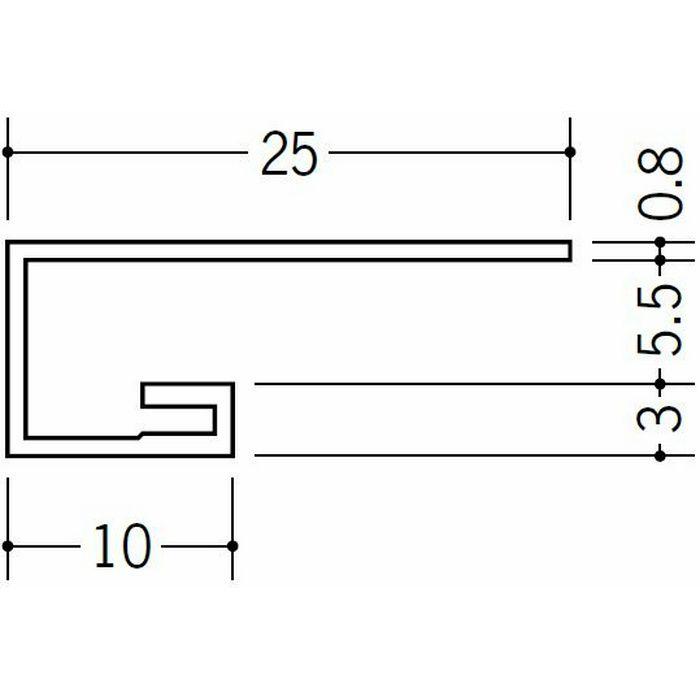 コ型見切縁 ビニール 見切 AG-5.5S ホワイト 2.3m  22009-2