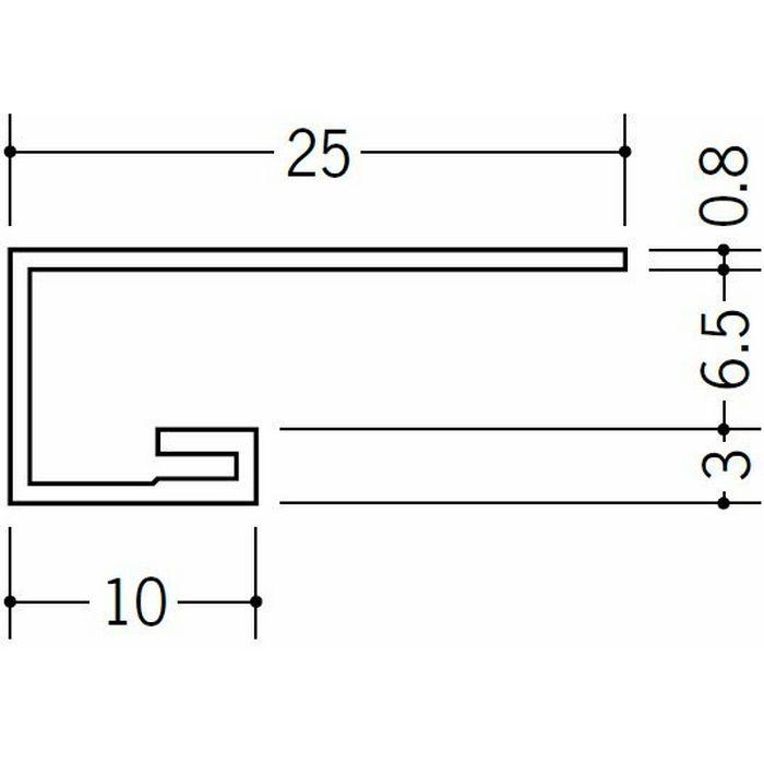 コ型見切縁 ビニール 見切 AG-7S ホワイト 2.3m  22011-2