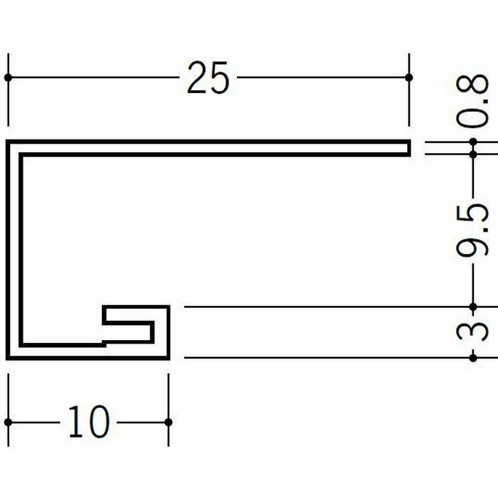 コ型見切縁 ビニール 見切 AG-9.5(岩綿板用) ホワイト 2m  22015