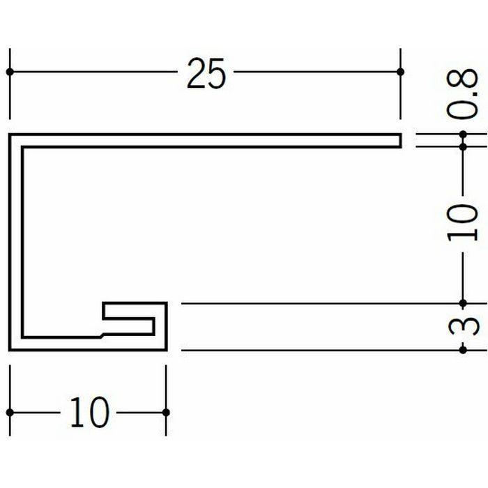 コ型見切縁 ビニール 見切 AG-10S ホワイト 2m  22012-1