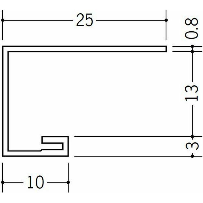 コ型見切縁 ビニール 見切 AG-13S ホワイト 2m  22013-1