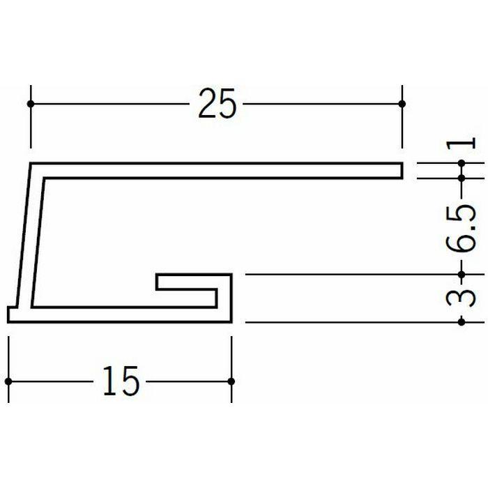 コ型見切縁 ビニール 見切 LA-7 ホワイト 2m  34117