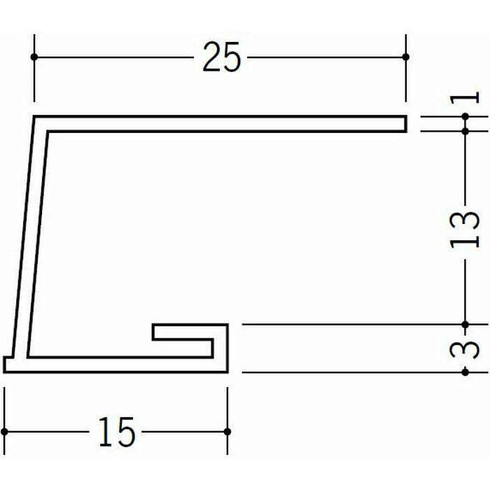 コ型見切縁 ビニール 見切 LA-13 ホワイト 2m  34119