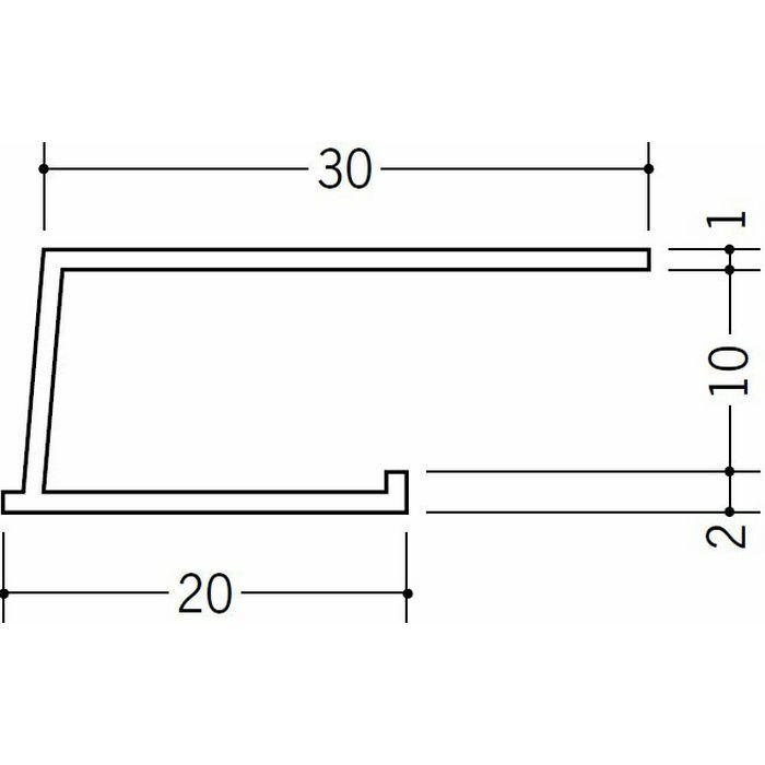 コ型見切縁 ビニール 見切 LB-10 ホワイト 2m  34193