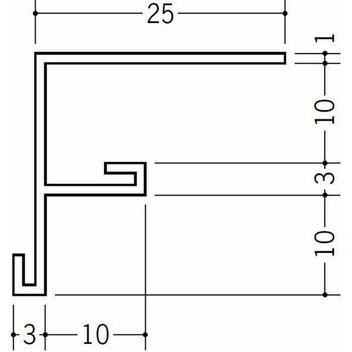 ?型見切縁 ビニール 見切 BFX-10 ホワイト 2.73m  33232