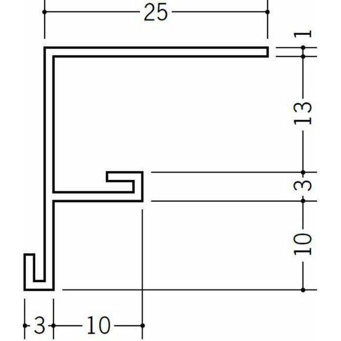 ?型見切縁 ビニール 見切 BFX-13 ホワイト 2.73m  33233