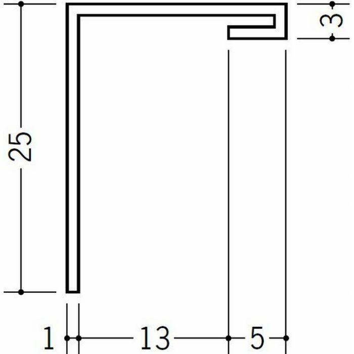 間仕切見切 ビニール 見切 HKT-13S ホワイト 1.82m  33175