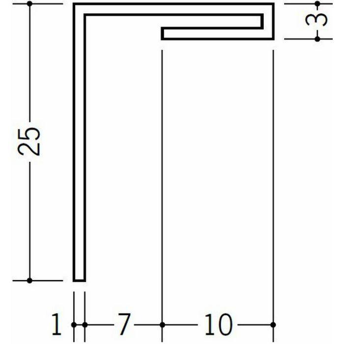 間仕切見切 ビニール 見切 HKS-7 ホワイト 1.82m  33090