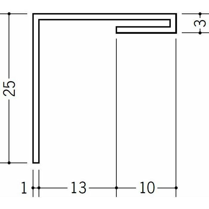 間仕切見切 ビニール 見切 HKS-13 ホワイト 1.82m  33089