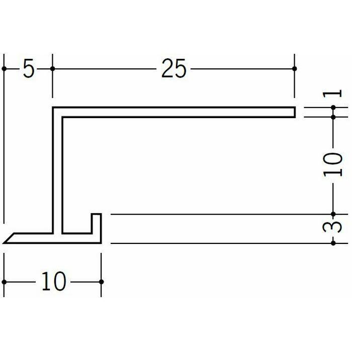 勾配見切 ビニール 勾配見切 SLP-9.5 ホワイト 1.82m  33076