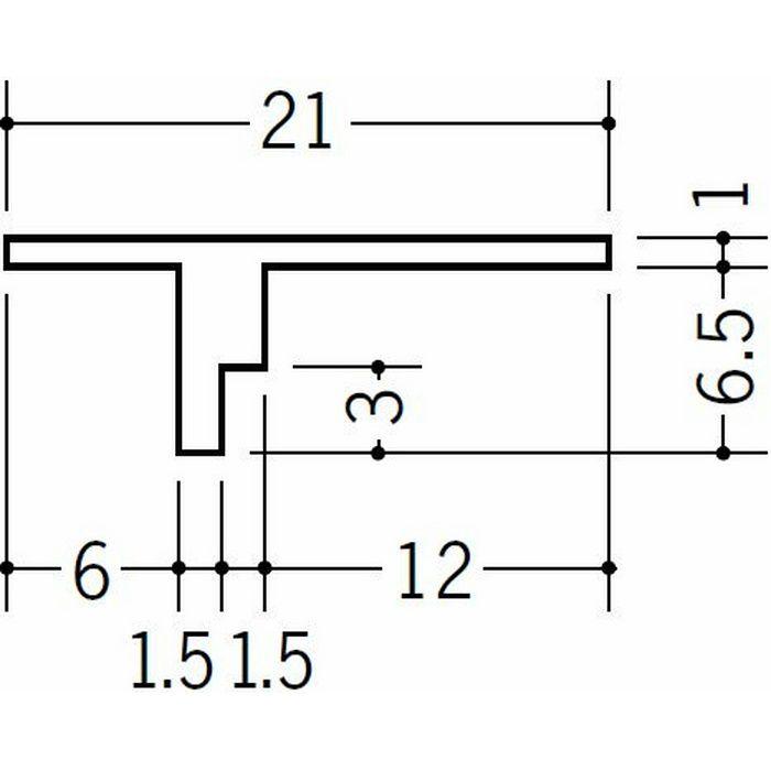 目透かし型見切縁 ビニール 見切 GT-7 ホワイト 1.82m  34070