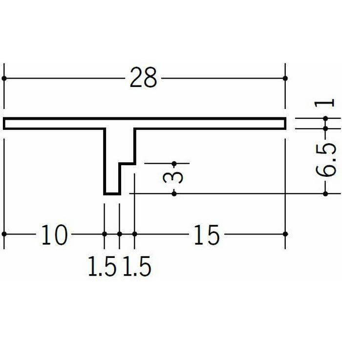 目透かし型見切縁 ビニール 見切 KT-7 ホワイト 1.82m  34080