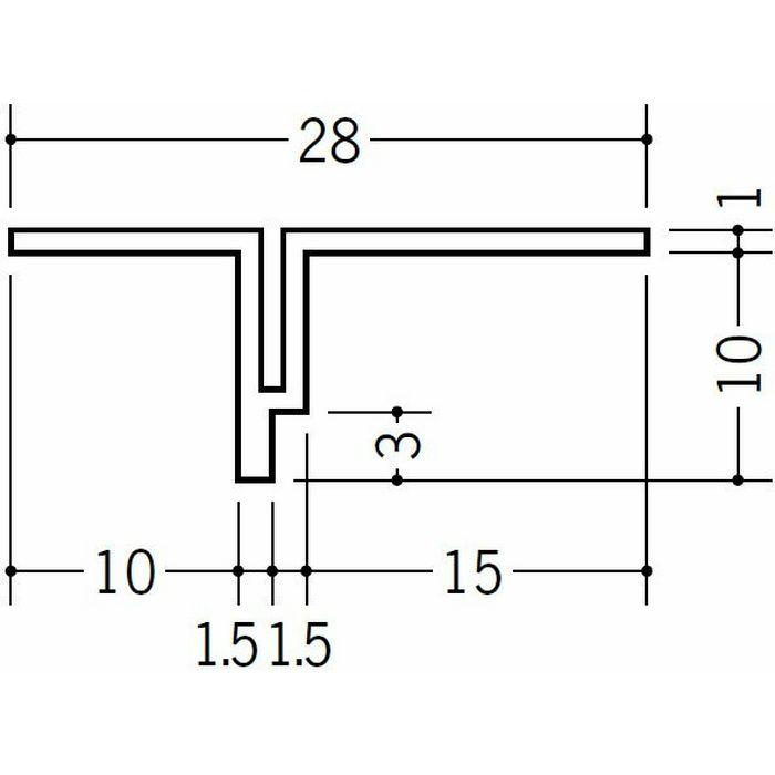 目透かし型見切縁 ビニール 見切 KT-10 ホワイト 1.82m  34077
