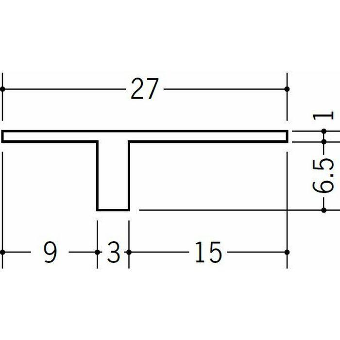 目透かし型見切縁 ビニール 見切 NTX-7 ホワイト 1.82m  34221