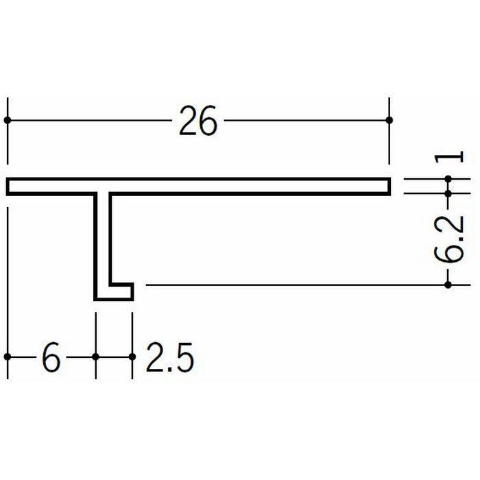 目透かし型見切縁 ビニール 見切 T-606 ホワイト 1.82m  33110