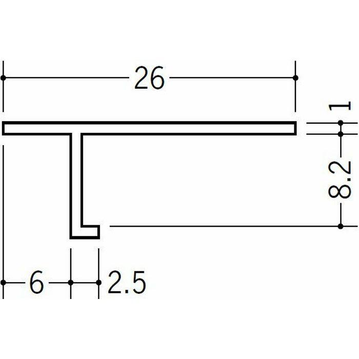 目透かし型見切縁 ビニール 見切 T-608 ホワイト 1.82m  33111
