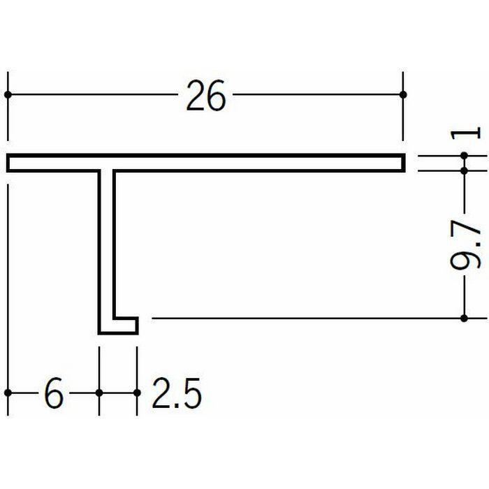 目透かし型見切縁 ビニール 見切 T-609 ホワイト 1.82m  33112