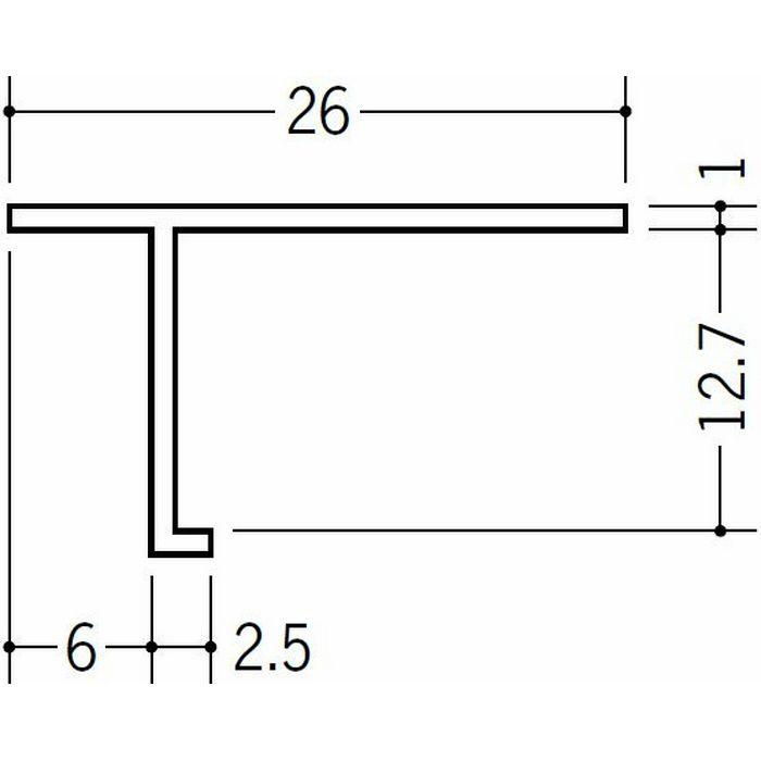 目透かし型見切縁 ビニール 見切 T-612 ホワイト 1.82m  33114