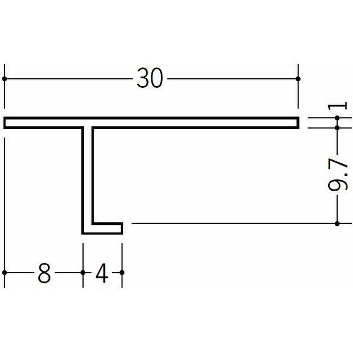 目透かし型見切縁 ビニール 見切 PA-10 ホワイト 2m  33118