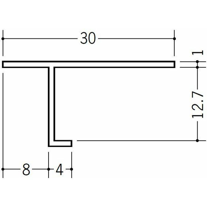 目透かし型見切縁 ビニール 見切 PA-13 ホワイト 2m  33119