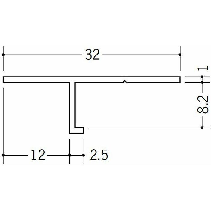 目透かし型見切縁 ビニール 見切 T-8 ホワイト 1.82m  33098